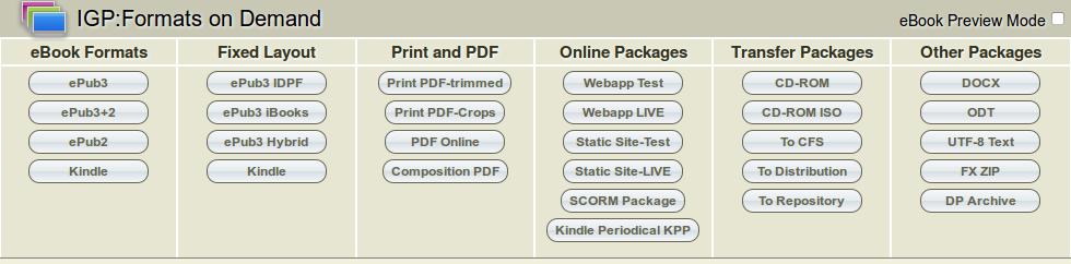 Formats On Demand: Formats: IGP:Digital Publisher